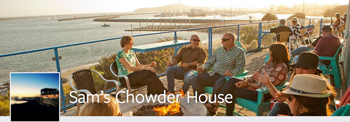 Sam's Chowder House Facebook cover